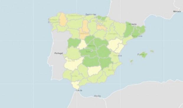 Una comunidad y tres provincias se bajan de la caída de incidencia Covid