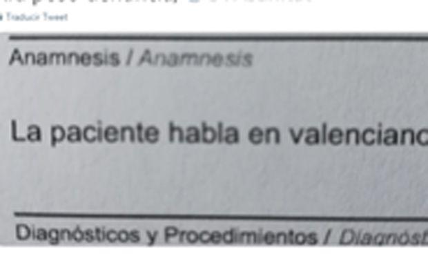 """Una médico se niega a atender a una paciente porque """"habla en valenciano"""""""
