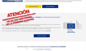 Una web cobra 59 euros por renovar la tarjeta sanitaria de forma ilegal