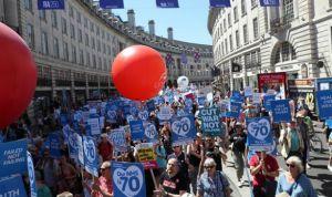 Unas 40.000 personas se manifiestan en Londres por una sanidad pública