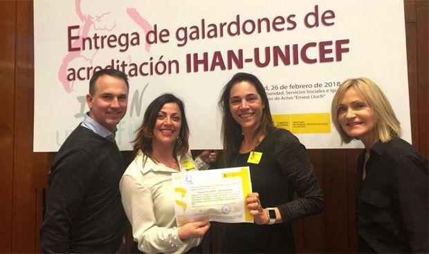 Unicef y la OMS distinguen a La Ribera por impulsar la lactancia materna