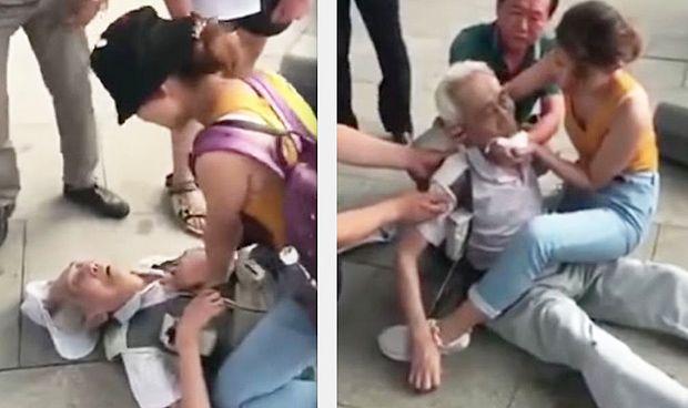 Vídeo: una estudiante de Medicina salva la vida a un hombre en plena calle