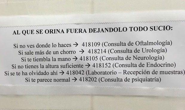 Visto en un hospital: a este médico debes acudir si orinas fuera del WC