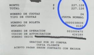 """Visto en un informe de Urgencias: """"gracias por su compra"""""""