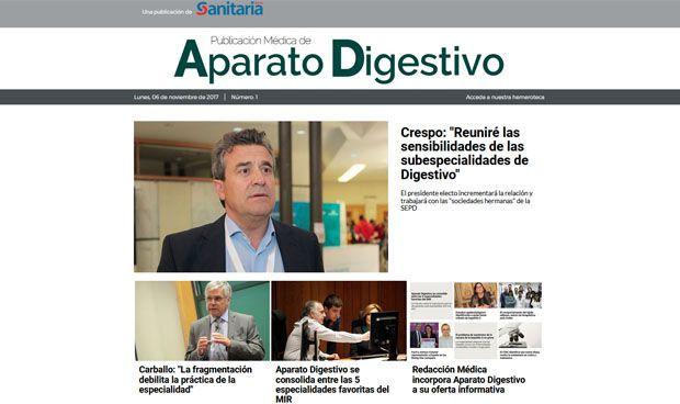 Ya disponible el primer número de Publicación Médica de Aparato Digestivo